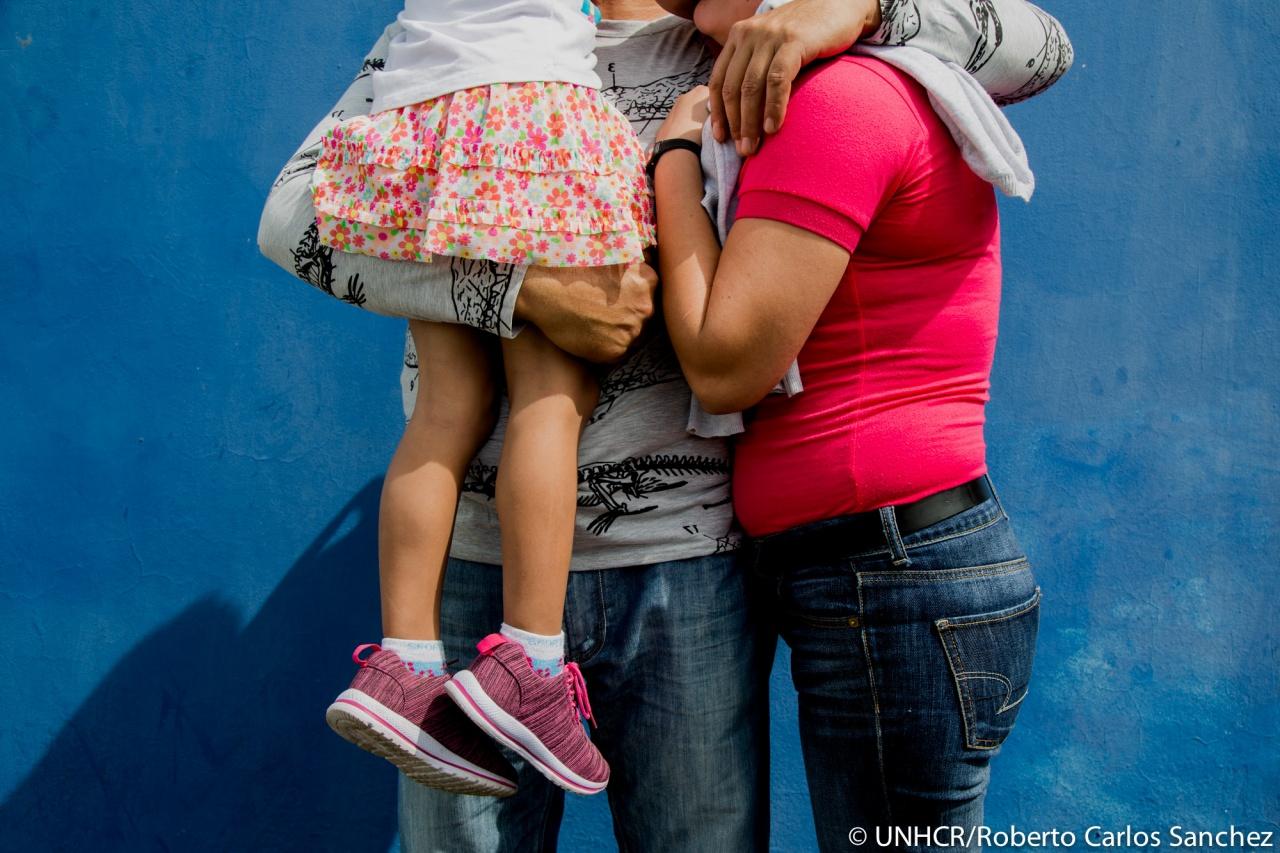 Asylum seeker family from Nicaragua in Costa Rica