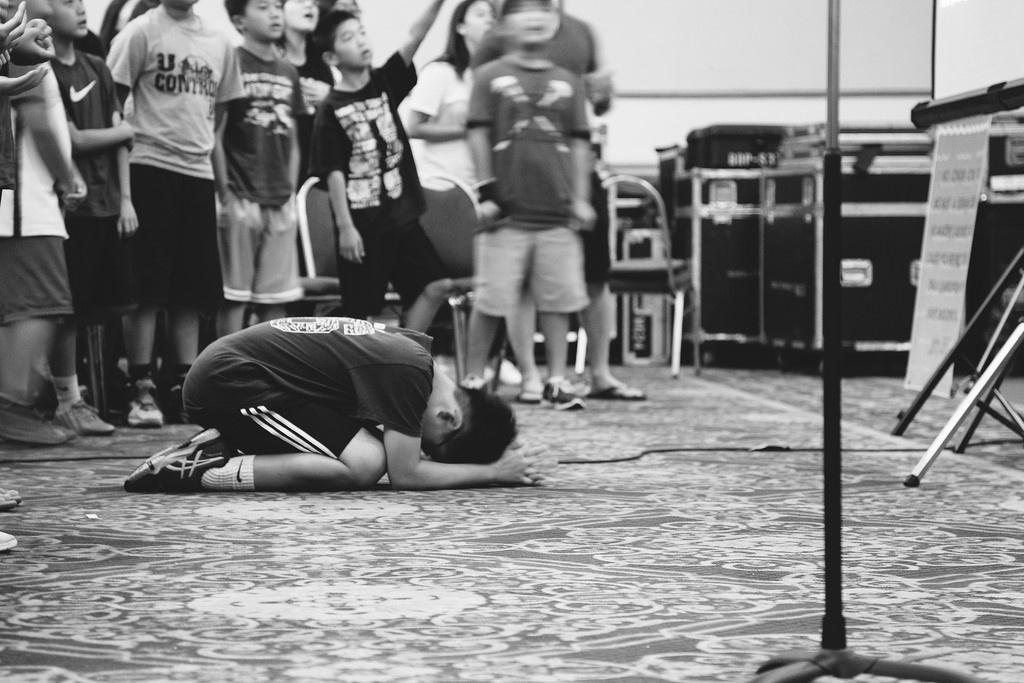 Student Deep in Prayer