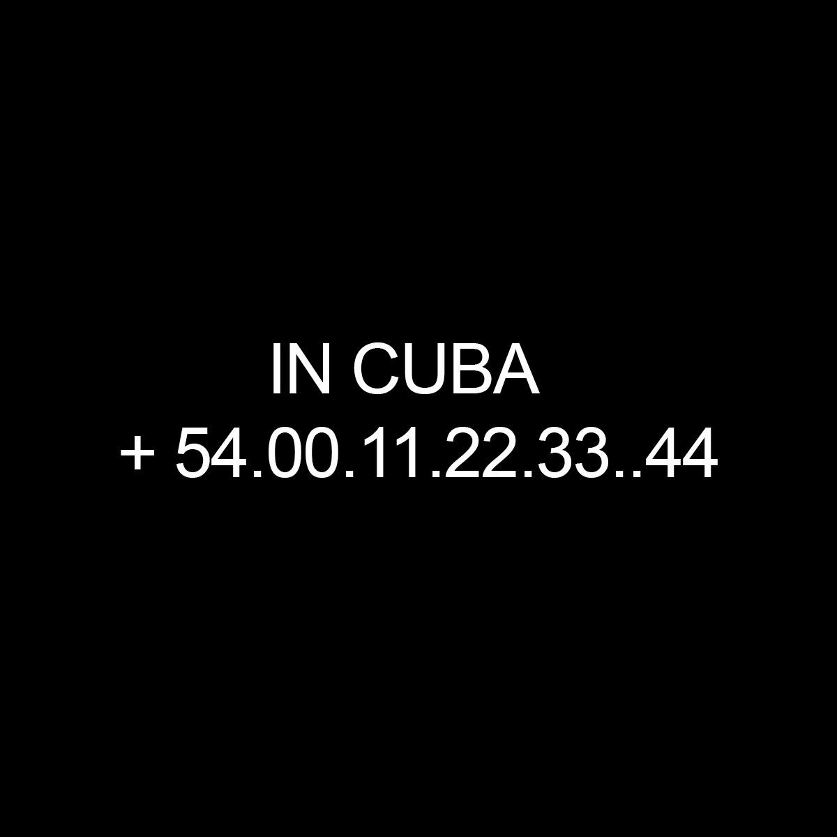Local number in Cuba