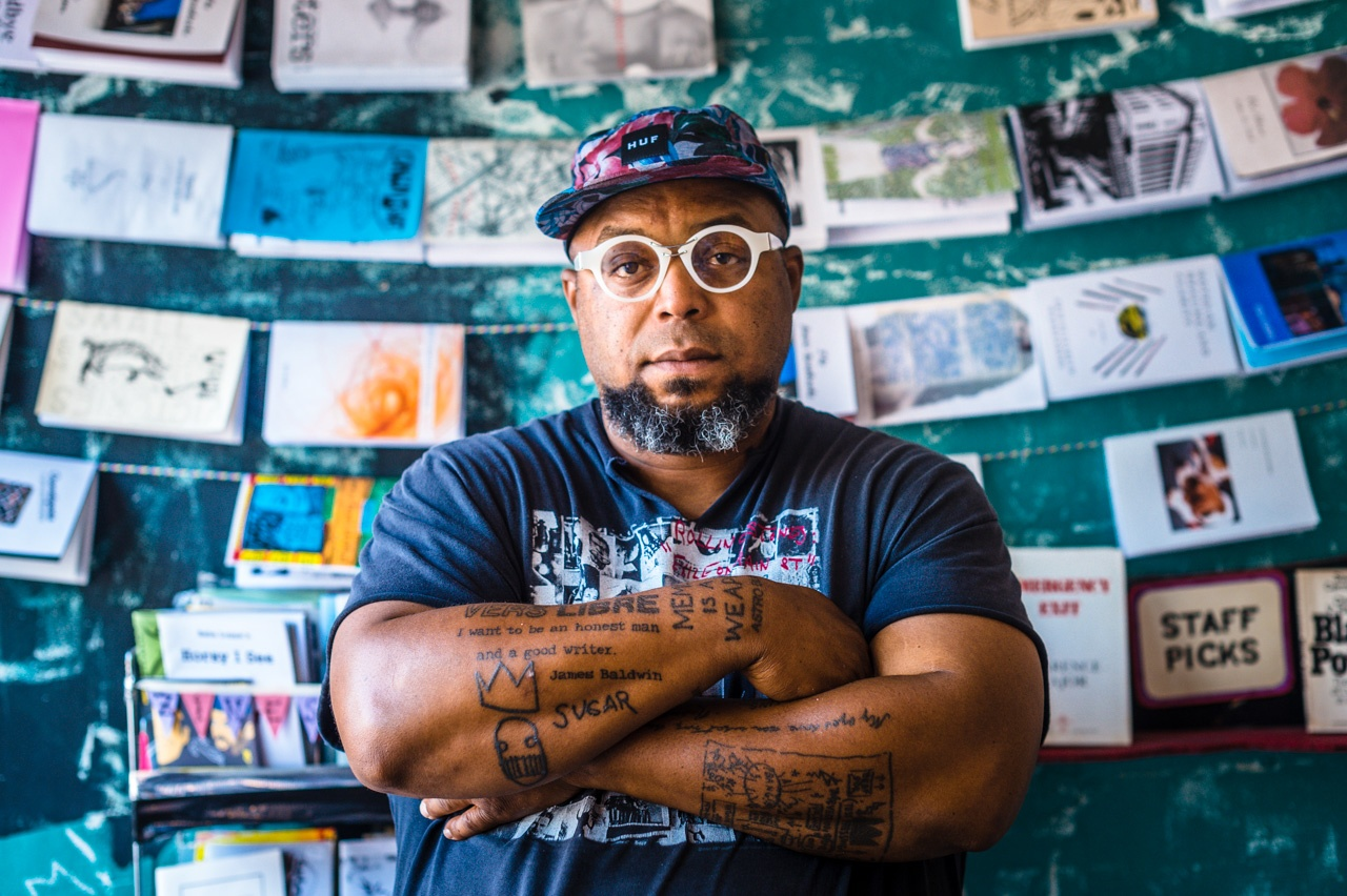 RA Washington, owner of Guide to Kulcher Bookstore