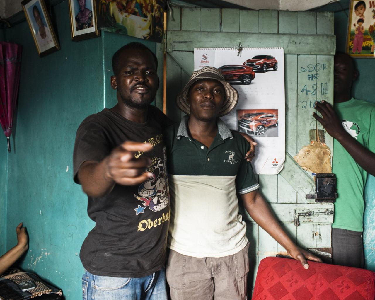 Changa drinking, Huruma, Nairobi.