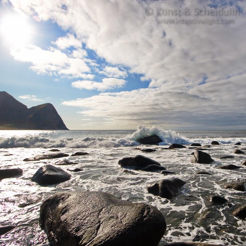 Beach in Unstad, Norway
