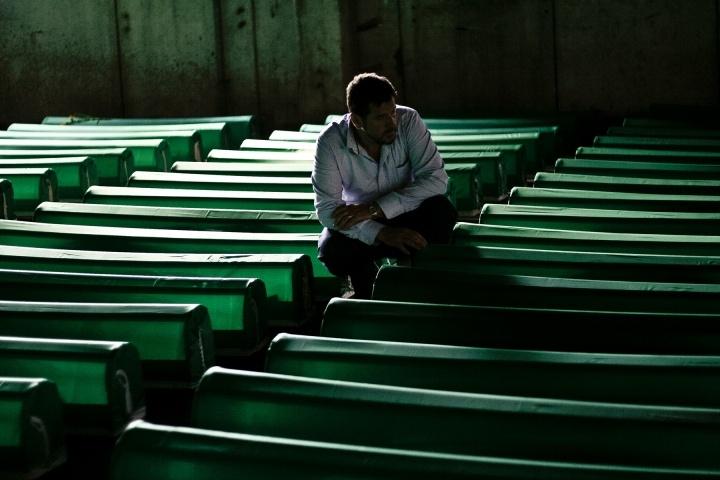 Coffins in Srebrenica