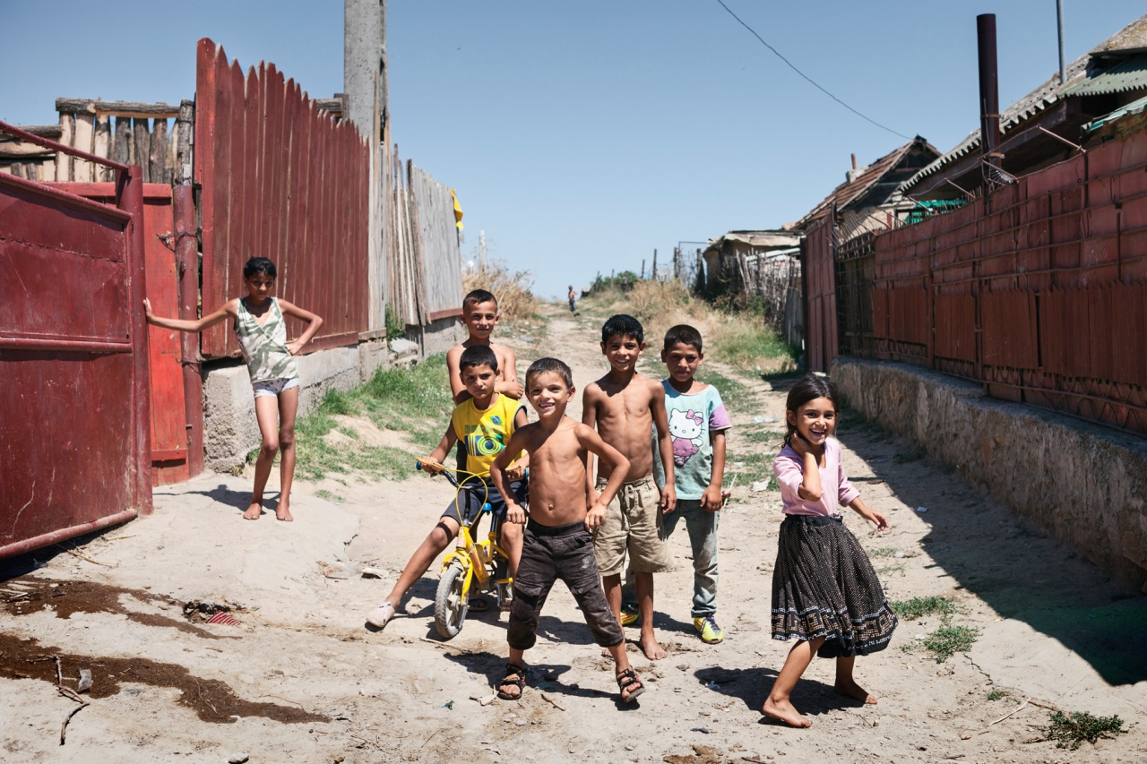 Kids in the streets of Babadag, Romania.