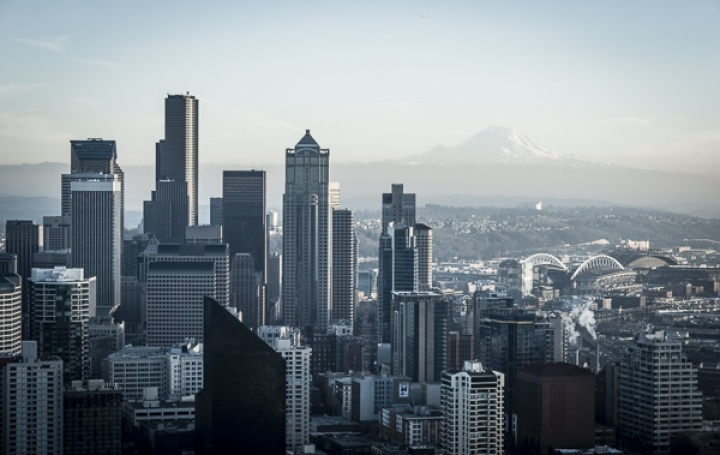Seattle aerial shot