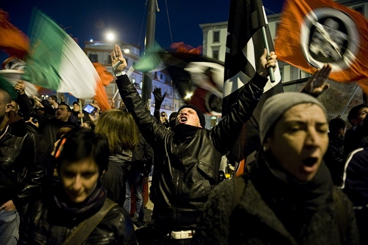 Fascists demonstration