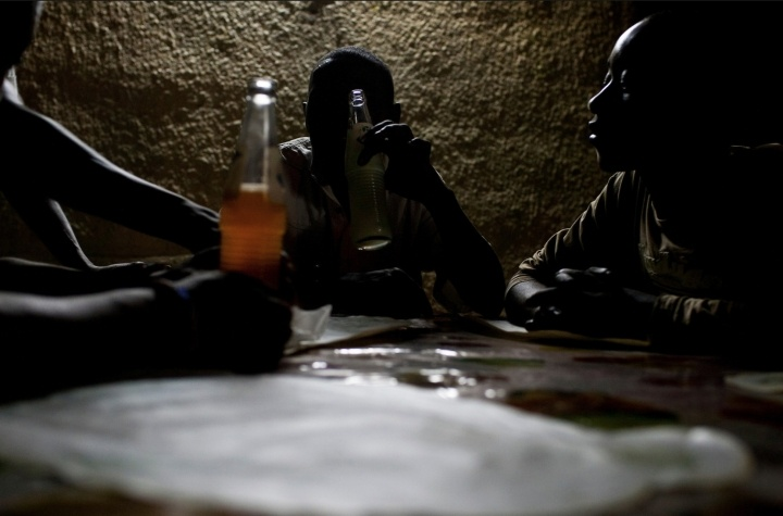 Orphaned Genocide Survivors at Dinner
