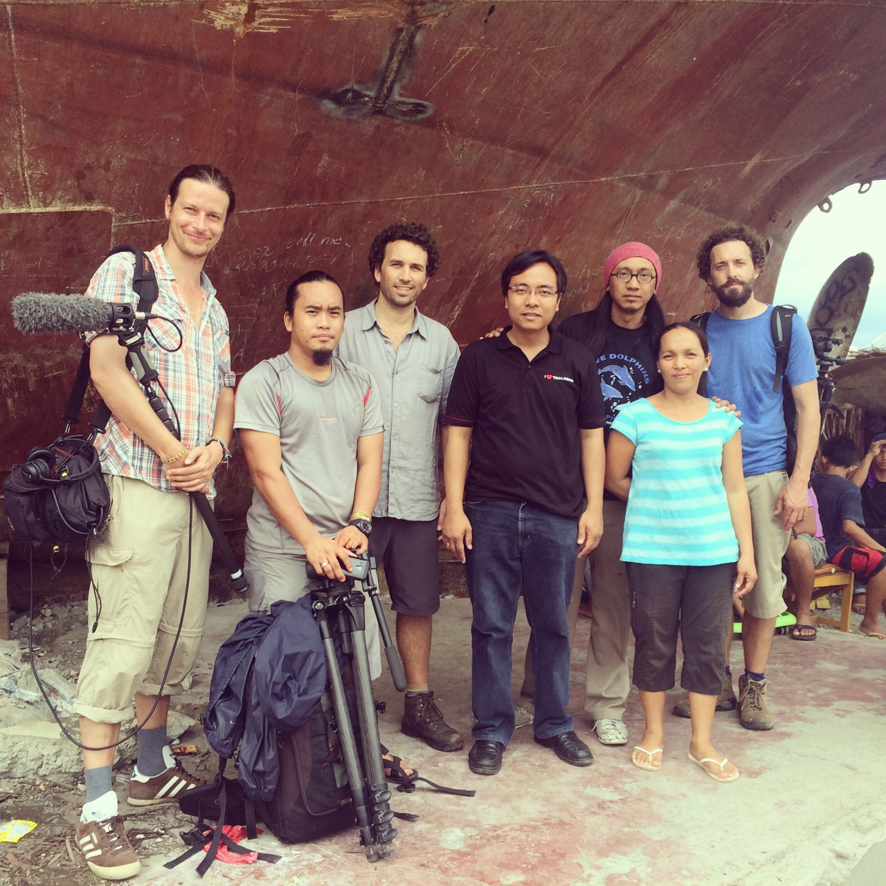 The crew, Tacloban, Philippines