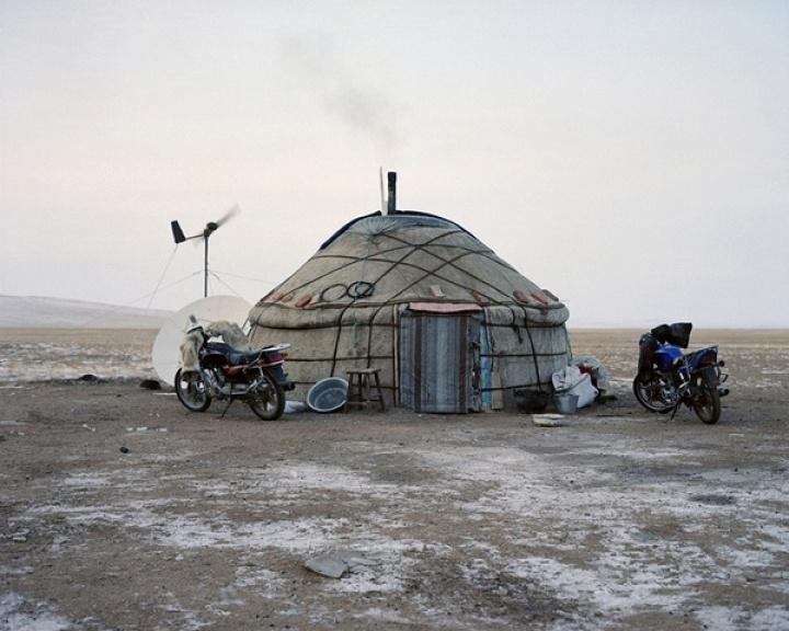 Mongolian yurts, 2010
