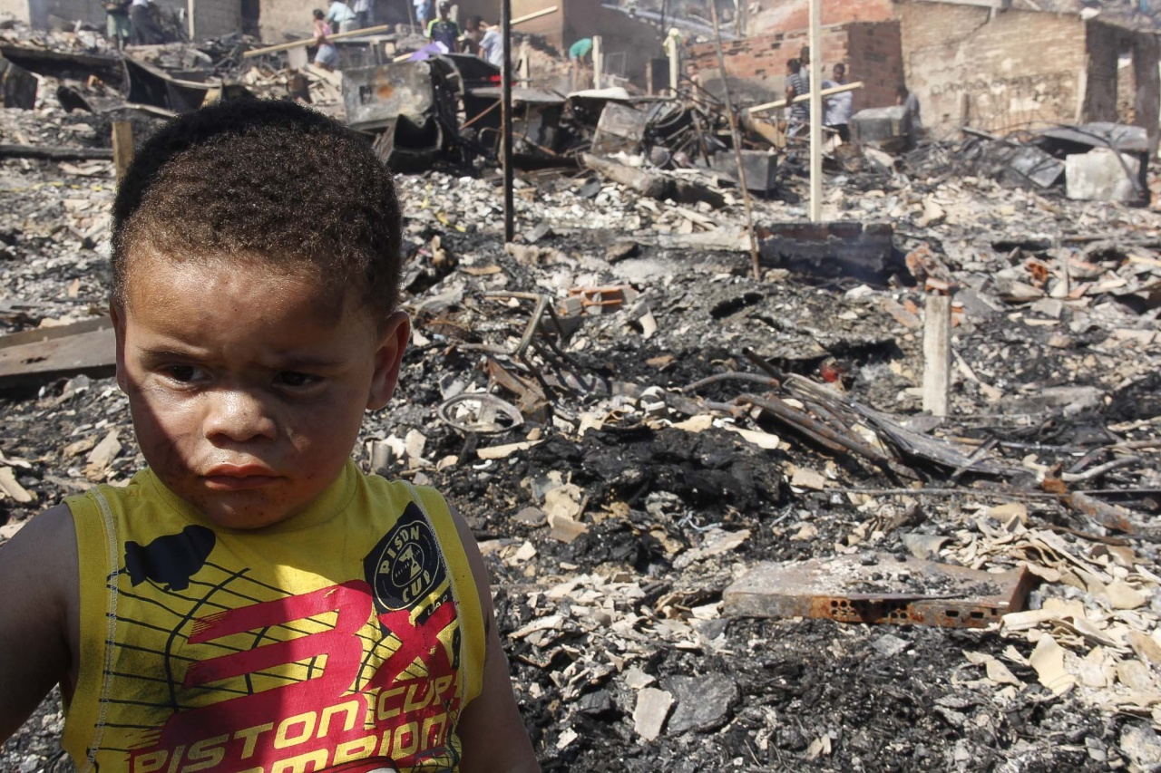 Boy community resident during aftermath.
