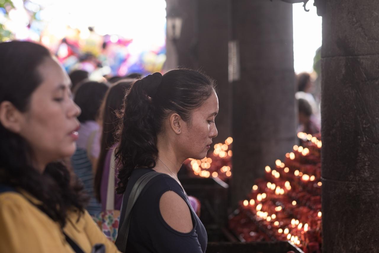 At the Basilica del Santo Niño,Cebu, Philippines