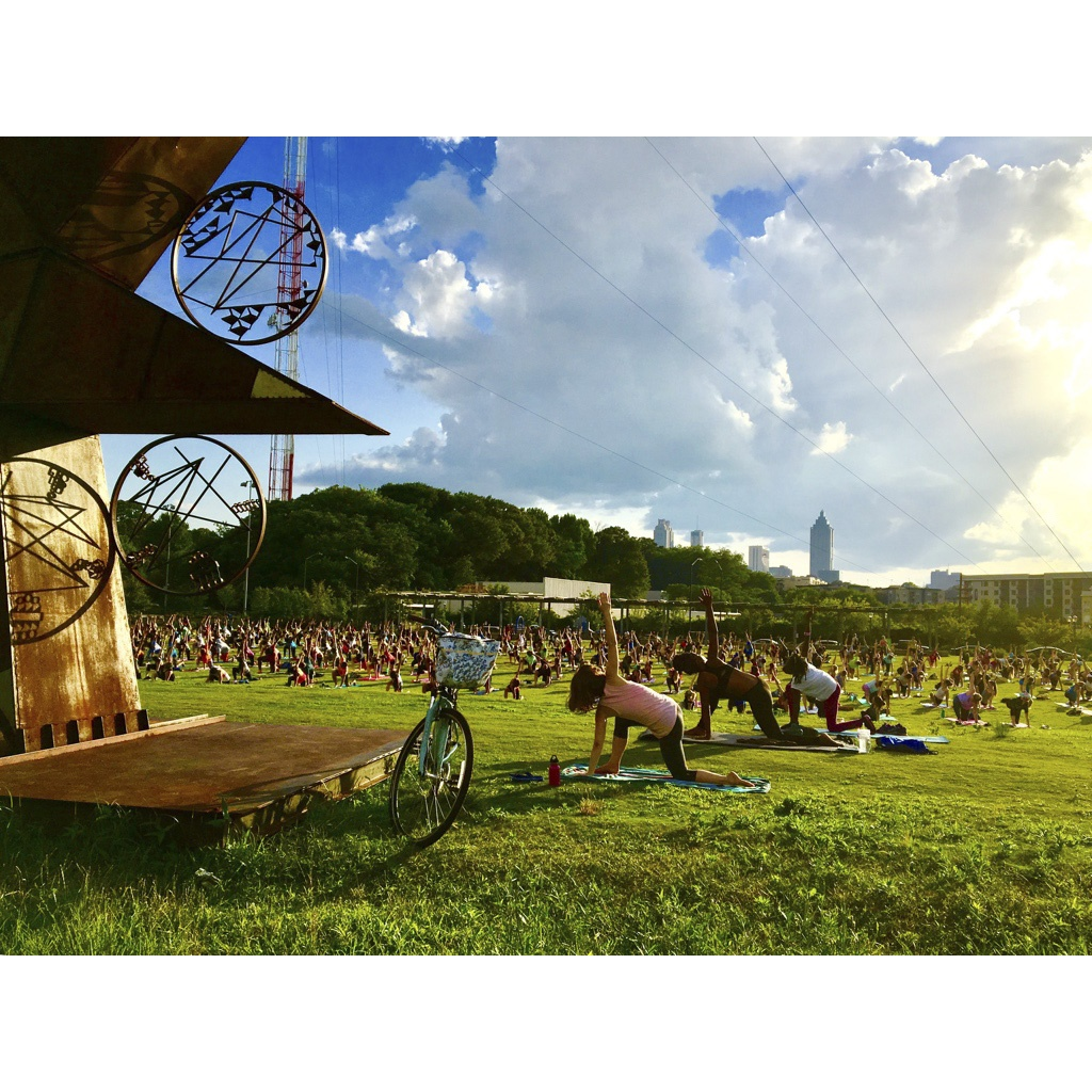 Mass yoga on the BeltLine