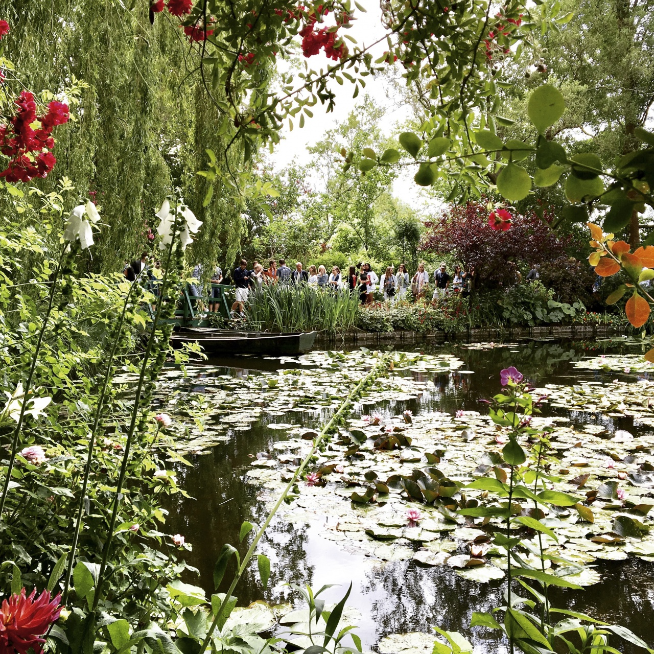 Experiencing nature at Giverny Gardens