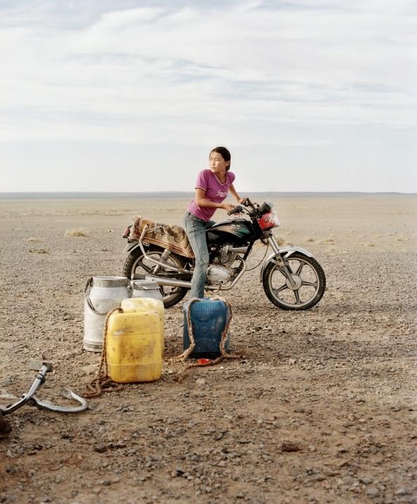 Girl in Gobi desert