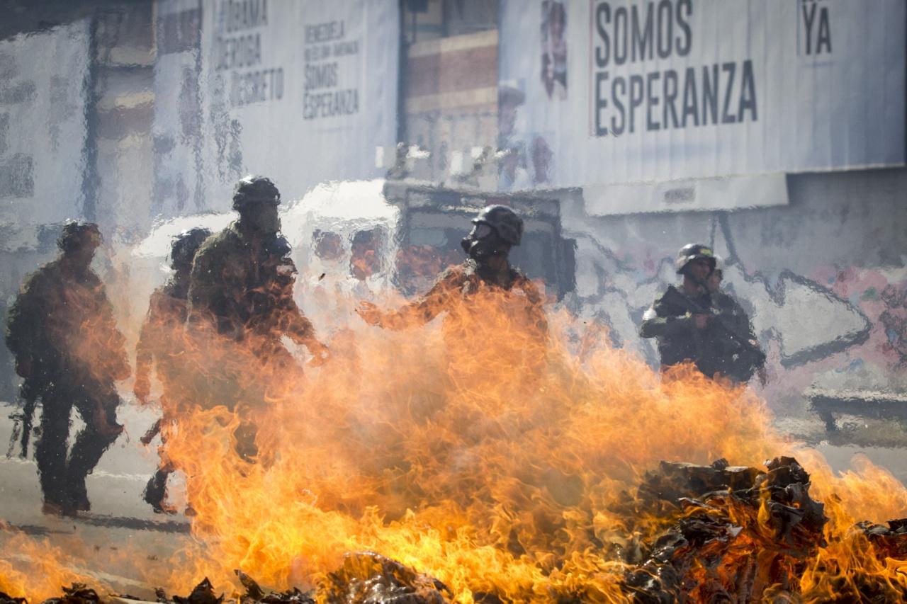 Protesta en Caracas.