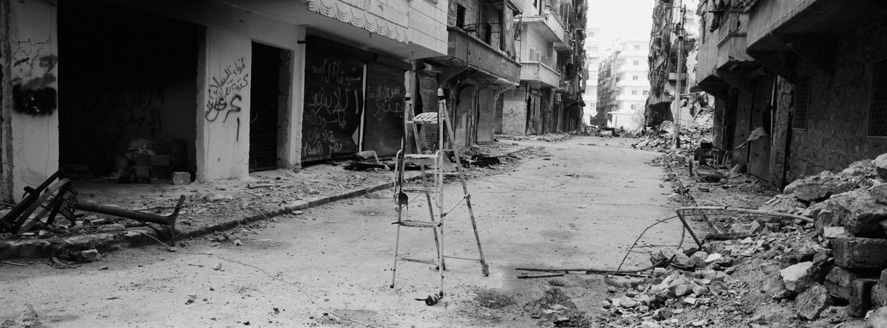 Catapult in Aleppo, Syria 2013