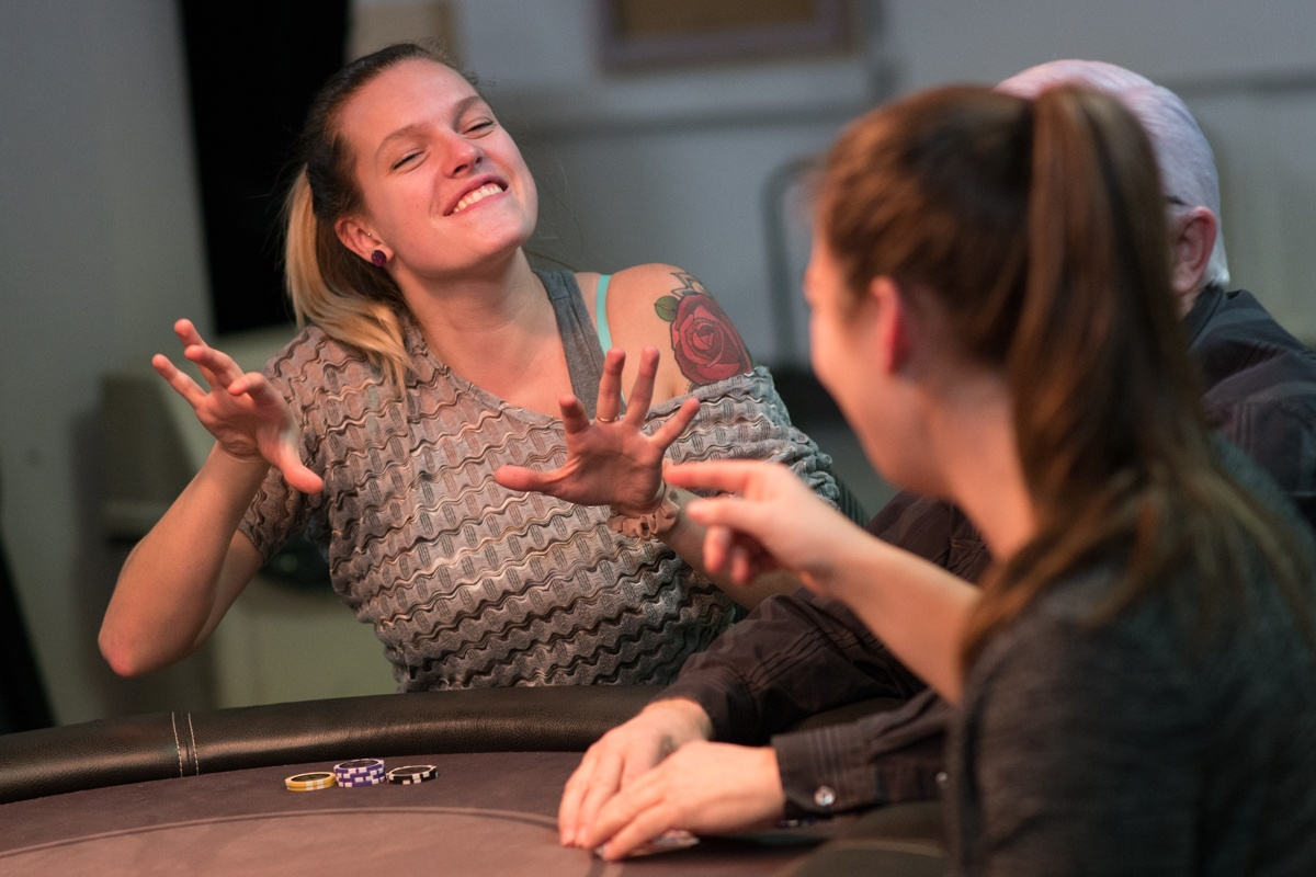 Poker night at the Montreal Deaf Leasure Center