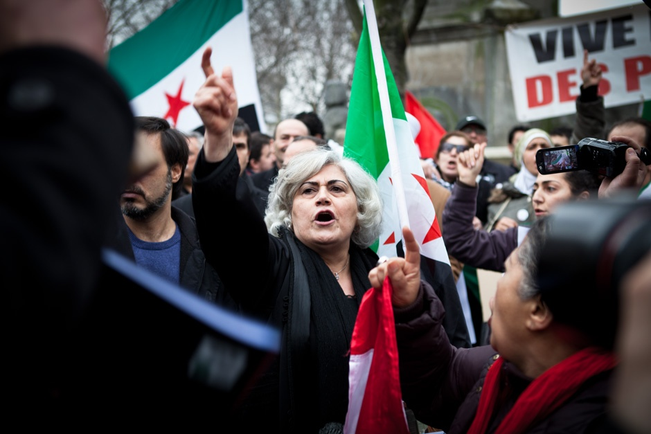 Demonstration against Bachar El Assad, Paris, 2012