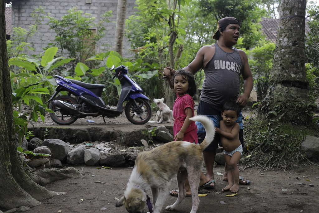 Bali Farmers under the Mount Agung Volcano