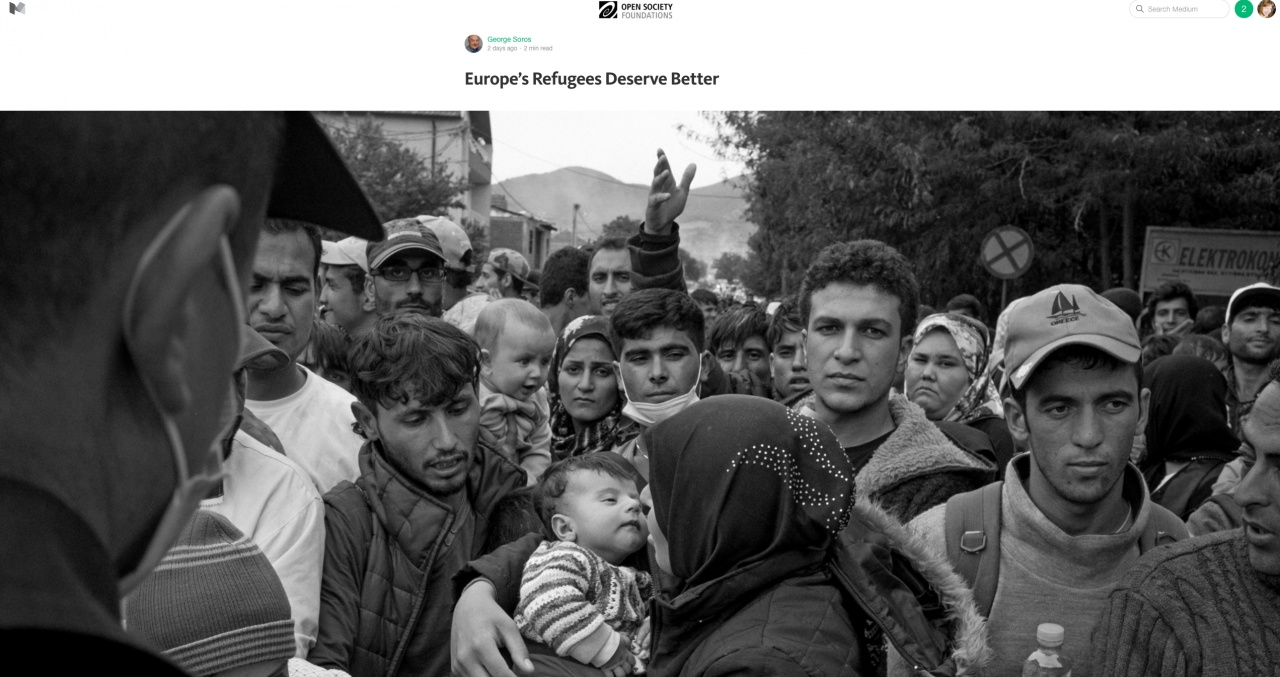Refugees in Serbia for George Soros article