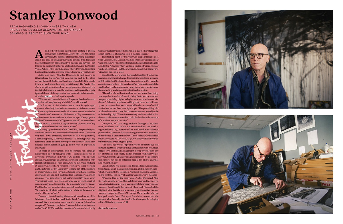 Stanley Donwood for Huck Magazine, May, 2016