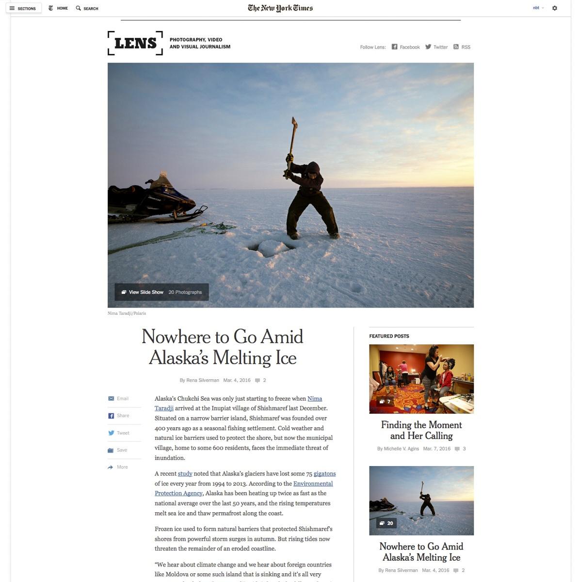 On New York Times' Lens Blog