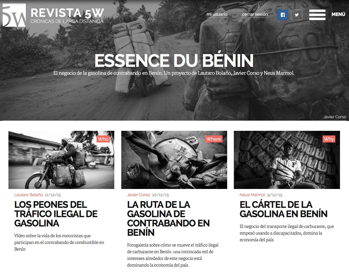 ESSENCE DU BENIN / Special Issue