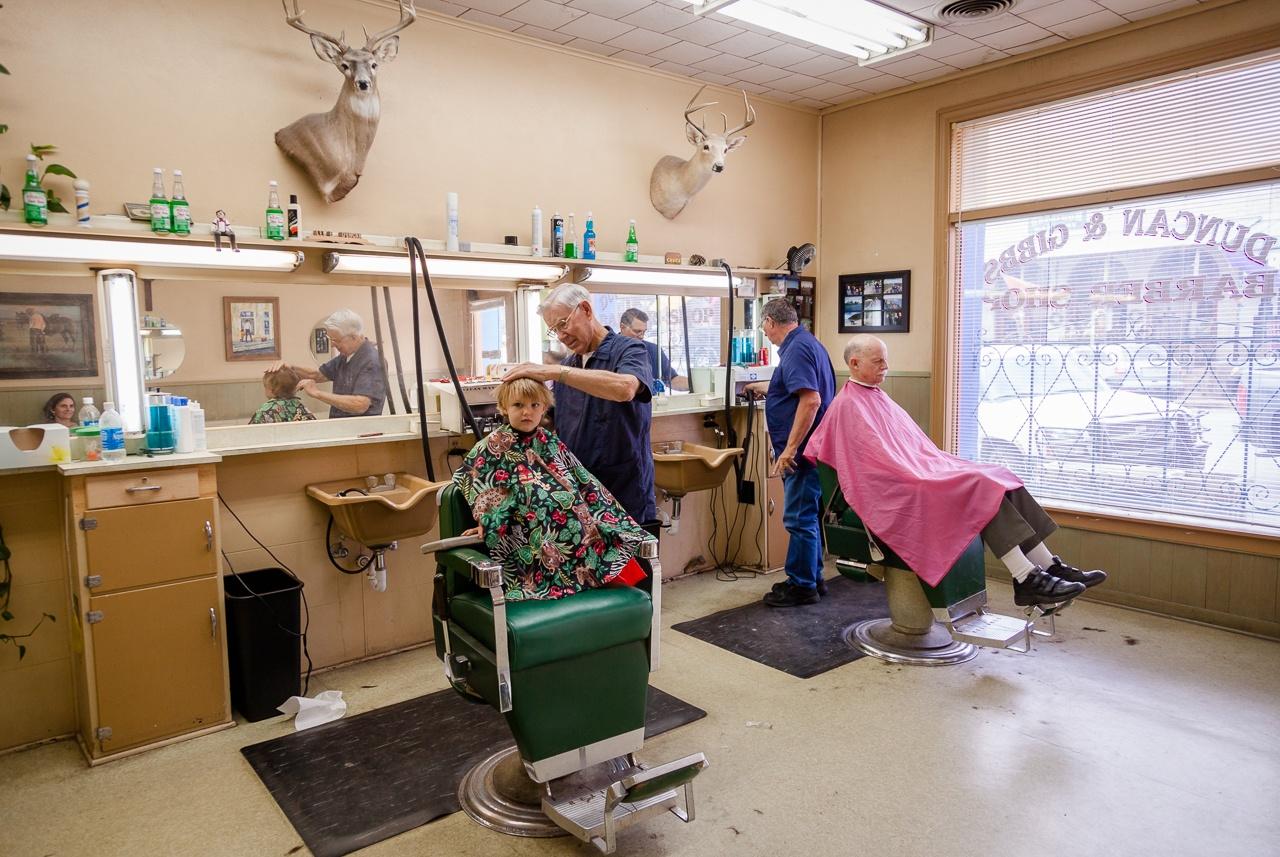 Duncan's Barber Shop, Llano, Texas, May 2010