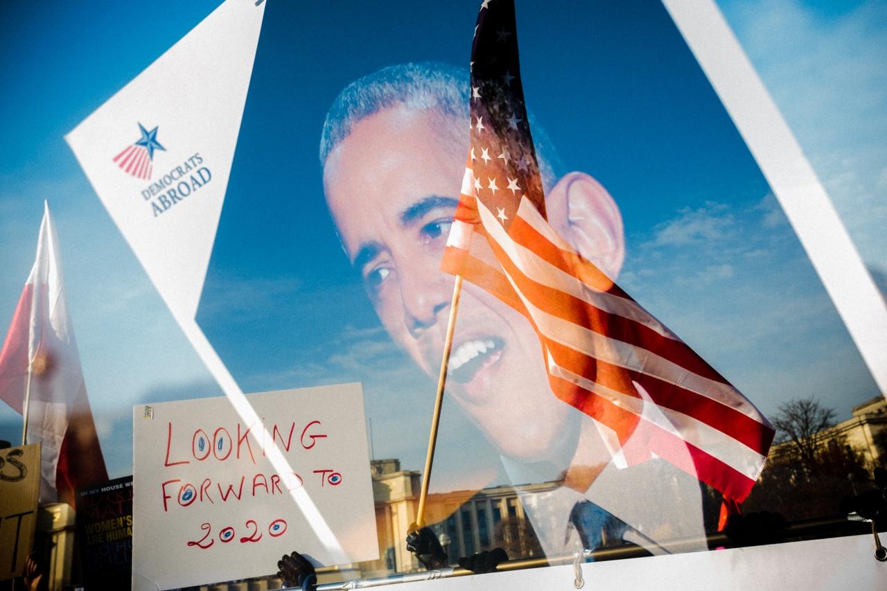 Double exposition de Barack Obama