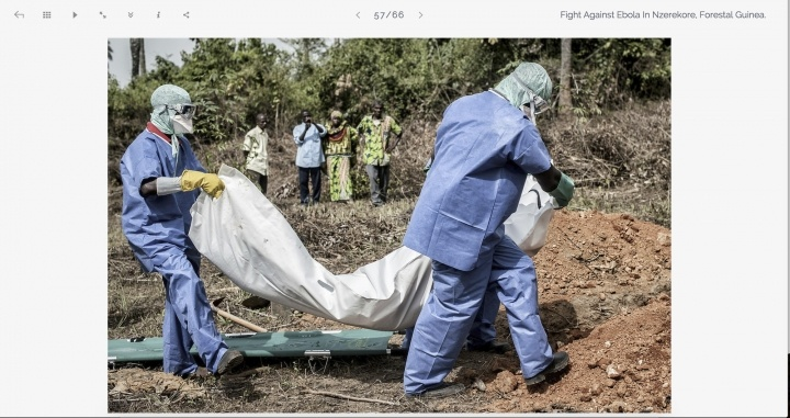 Fight against Ebola in Nzerekore, Forestal Guinea.