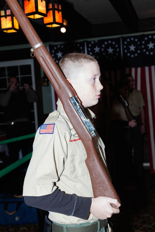 Boy Scout During the Pledge of Allegiance