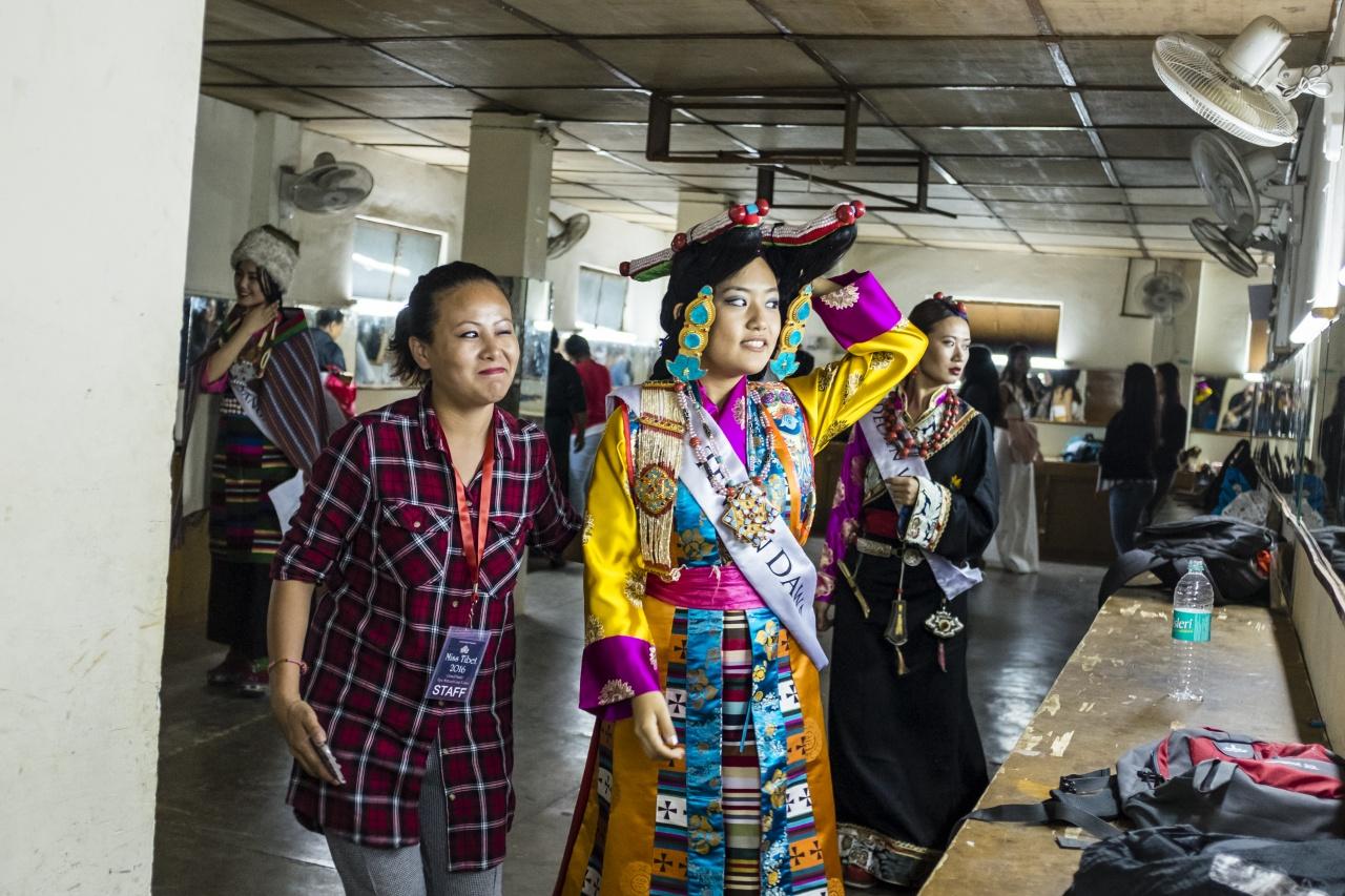 Miss Tibet contestant Tenzin Dawa.