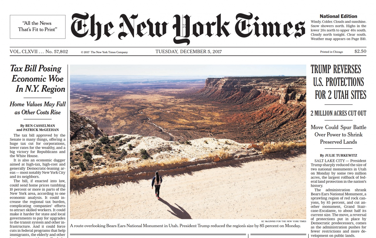 Tear sheets: NYT cover