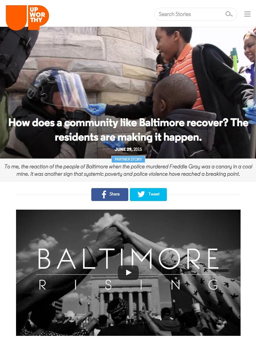 Upworthy Baltimore