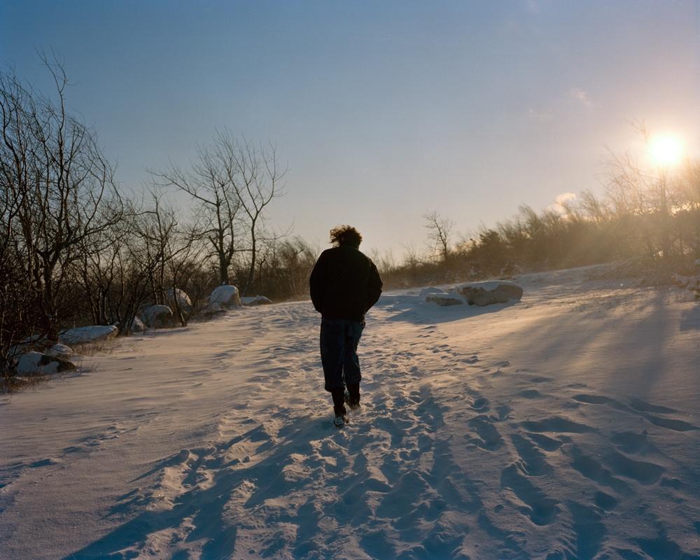 Jacob in the snow, Ellenville (2013)