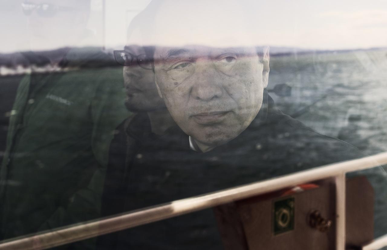 Naoto Kan visiting Fukushima Daiichi