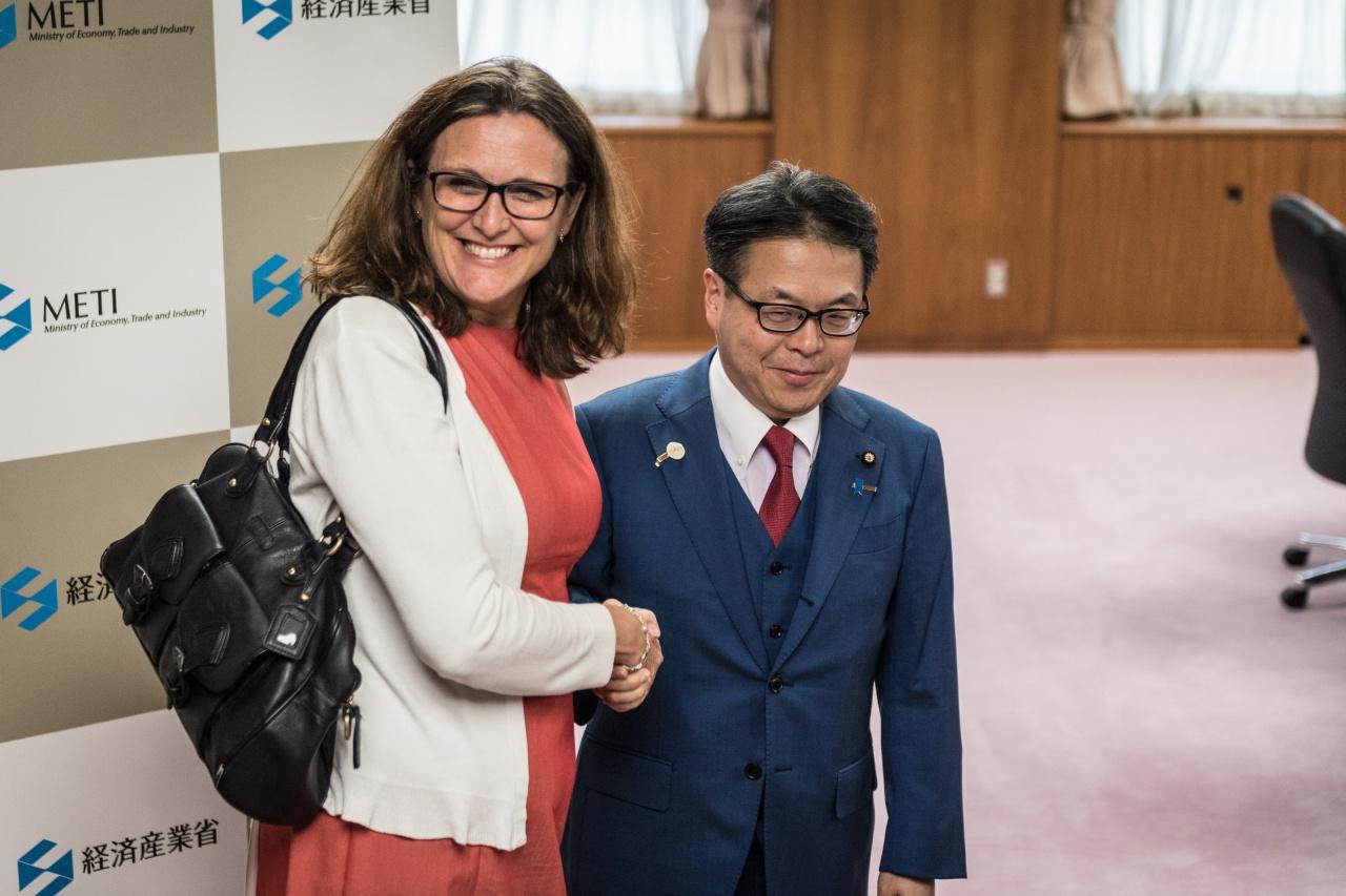 Visit of Cecilia Malmström in Japan