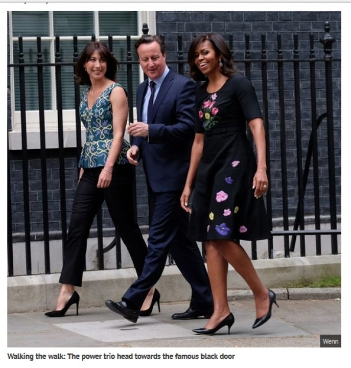 Michelle Obama and the Camerons