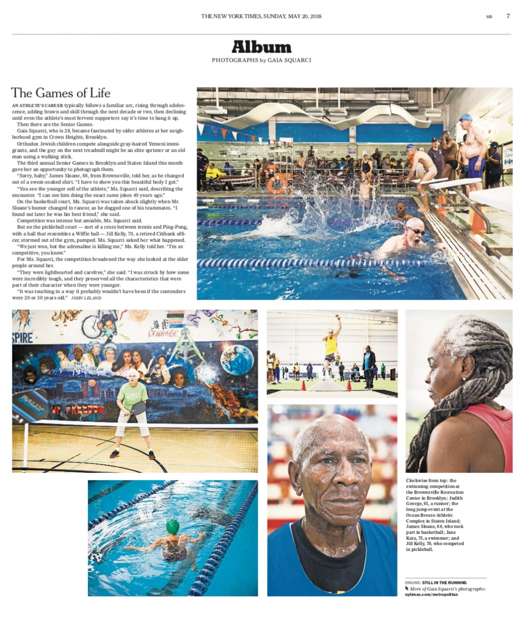 Senior Games, New York Times