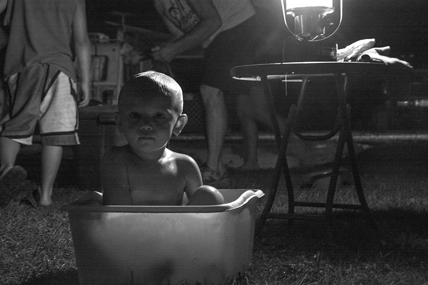 Bath by Lantern Lights