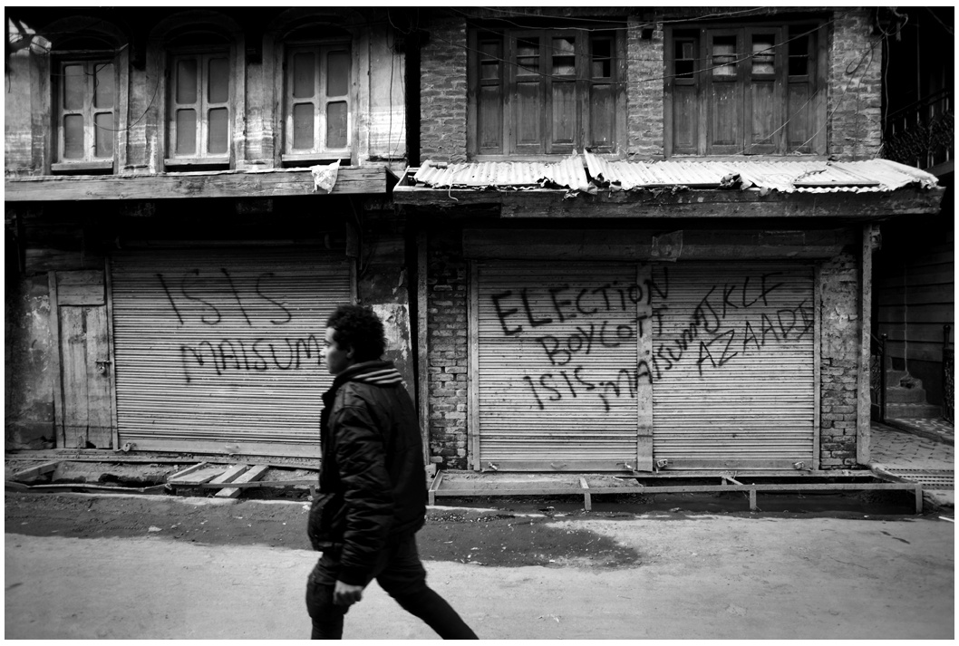 Pro- Islamic State, militant graffiti.