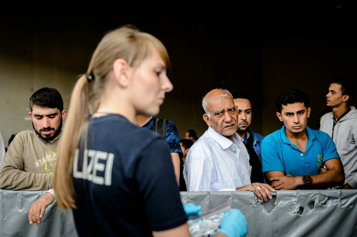 Syrian refugees arrive in Passau