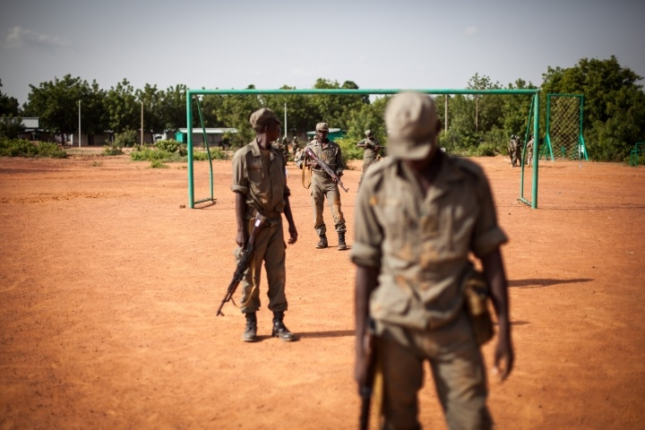 Malian soldiers trained by the German army