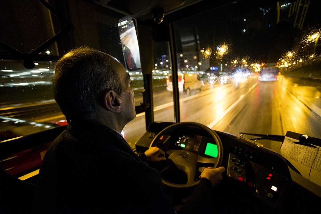 Alltag eines Busfahrers