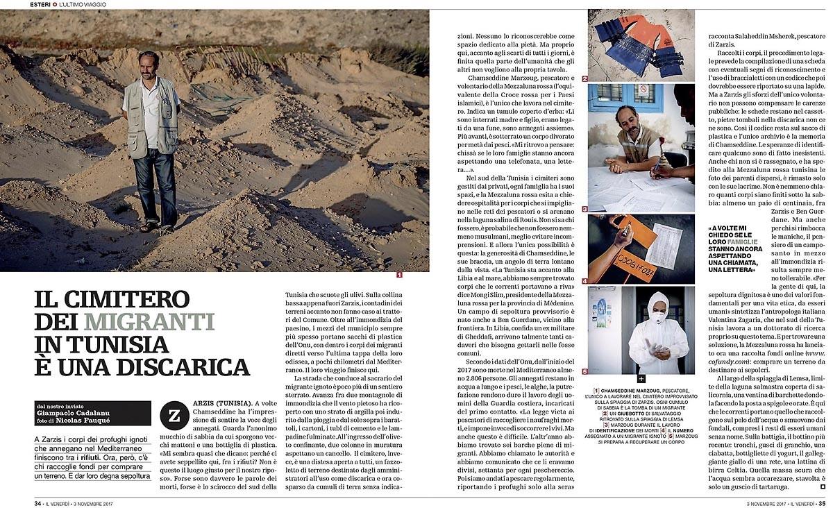 Il Venerdi di Repubblica (Italie) 3/11/2017