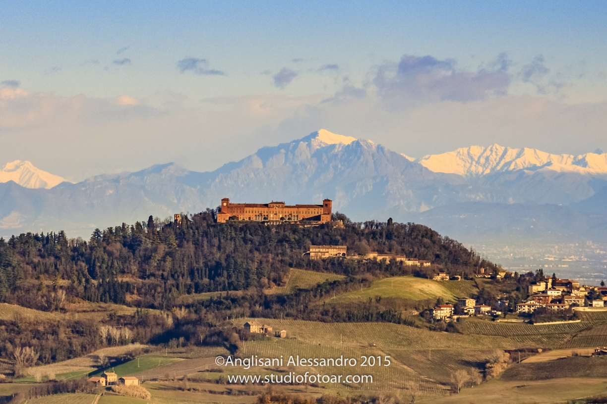 montalto's castle and the alps