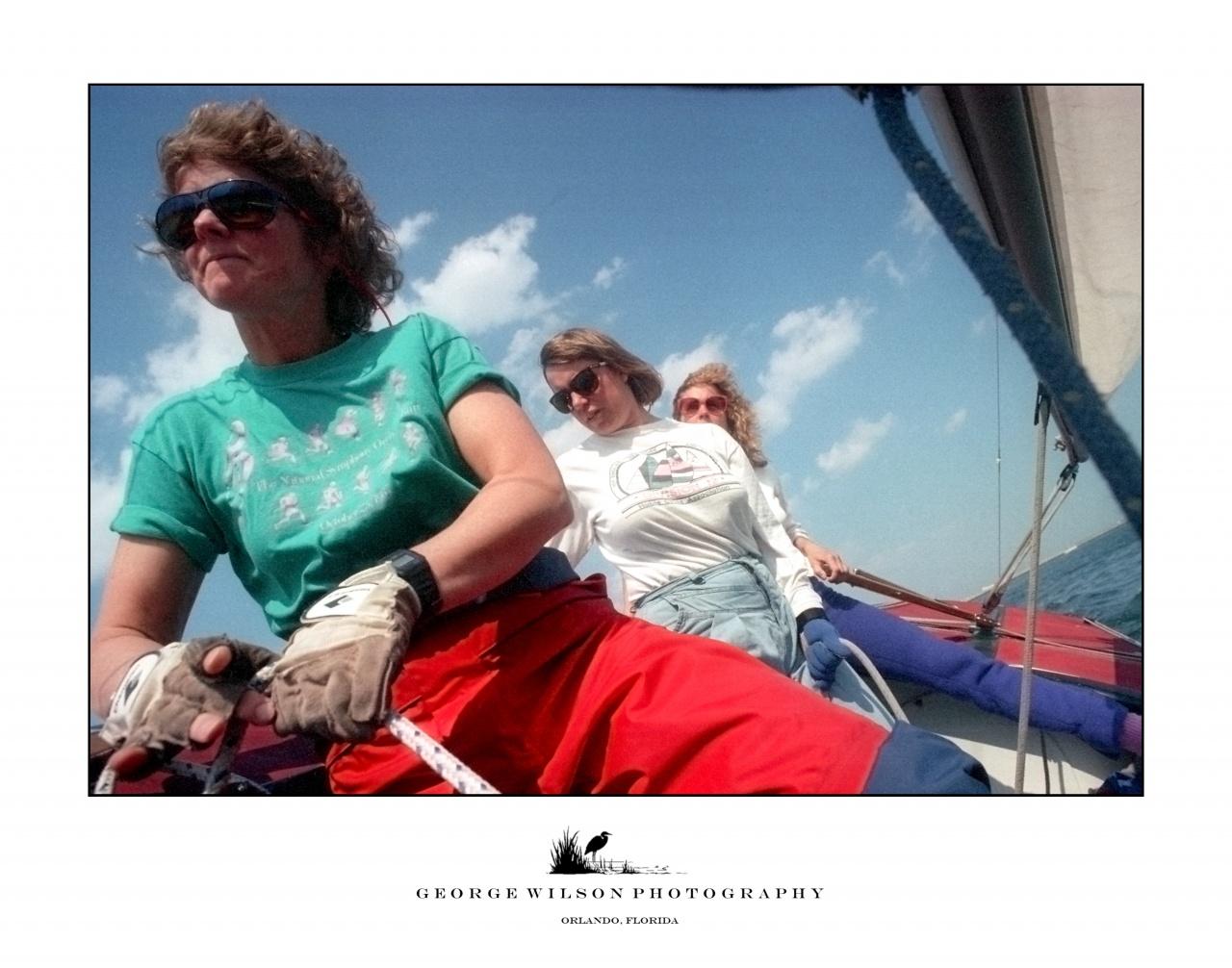 Sailing a Soling