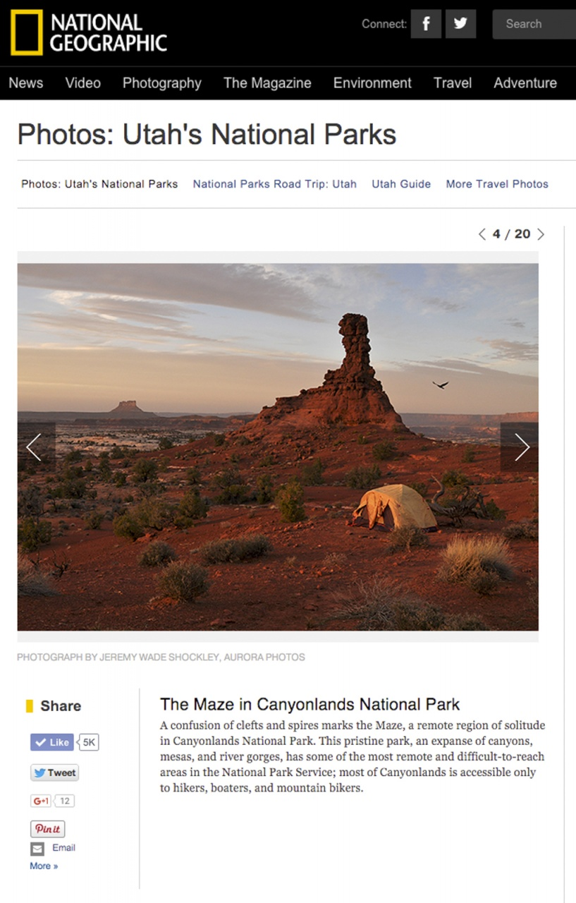 Canyonlands: National Geographic Magazine