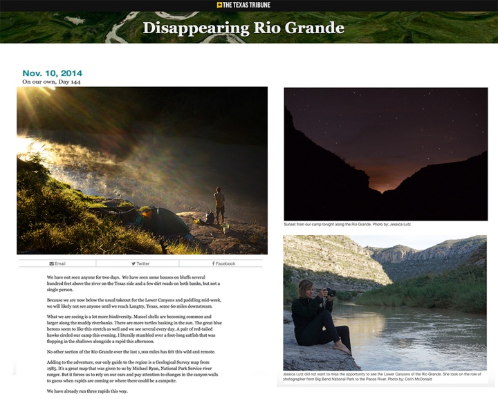 Texas Tribune | Disappearing Rio Grande Expedition