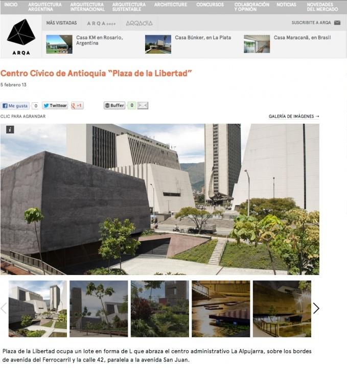 Arq'a Magazine: Centro Cívico de Antioquia